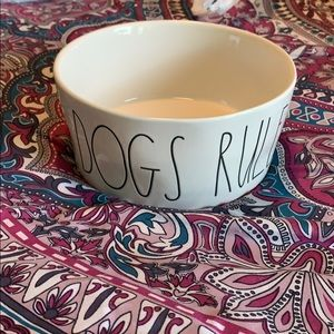 "NWT Rae Dunn ""Dogs Rule"" pet bowl"